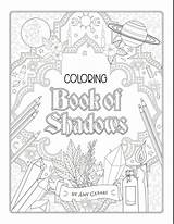 Coloring Shadows Adult Wiccan Sheets Books Printable sketch template