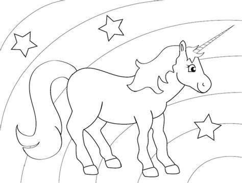 rainbow  unicorn pages coloring pages