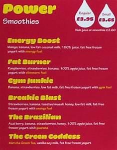 la fitness juice bar menu - Incep imagine-ex co