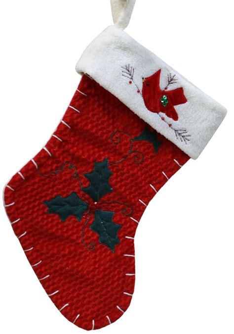 christmas stockings  red cardinal christmas stocking
