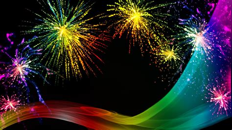 rainbow fireworks celebration colorful abstract image
