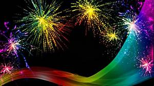 Rainbow, Fireworks, Celebration, Colorful, Abstract, Image, With