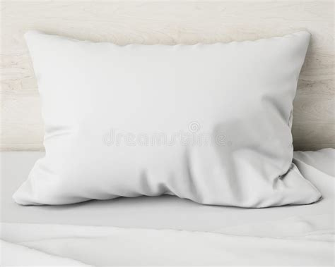 white pillow   bed background stock photo image