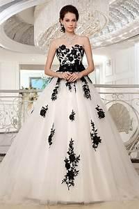 Robe De Mariée Noire : robe de mari e princesse noire blanche appliqu e de ~ Dallasstarsshop.com Idées de Décoration