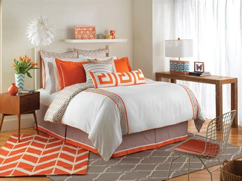 orange and gray comforter set orange and grey bedding sets