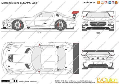 mercedes benz sls amg gt vector drawing