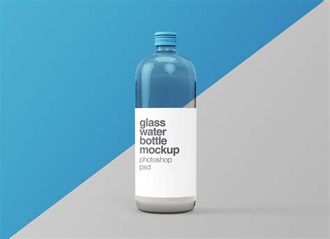 Your resource to discover and connect with designers worldwide. Free Glass Water Bottle Mockup PSD - Good Mockups