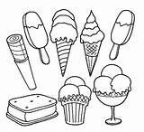 Ice Cream Coloring Pages Printable Children Adults sketch template