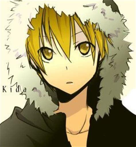 anime yellow eye post an anime character with gold yellow anime