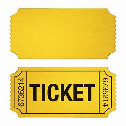 Ticket Admission Golden Illustration Vector Illustrations Isolated