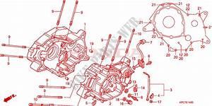 Crankcase Engine Xl125vb 2011 Varadero 125 Moto Honda