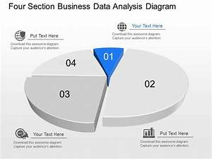 Px Four Section Business Data Analysis Diagram Powerpoint Template