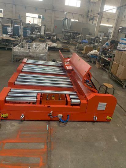 china rgv rail guided vehicle agv warehouse cross transfer conveyor  pallet conveyor roller