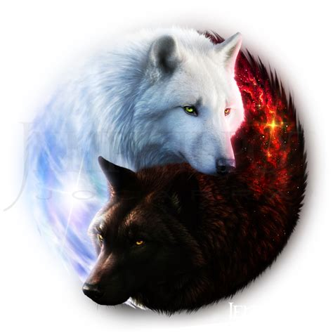 image result  yin  wolf tattoo collaboration