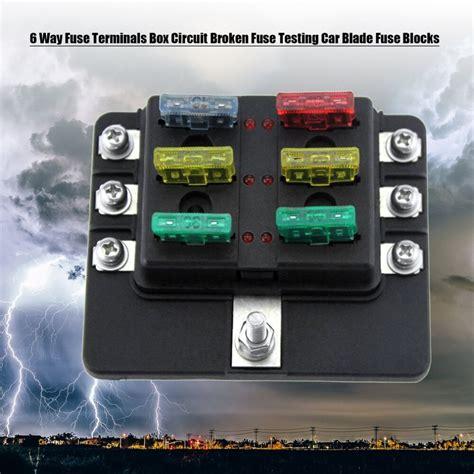 Broken Fuse In Fuse Box by Dc 32v 6 Way Fuse Terminals Box Circuit Broken Fuse