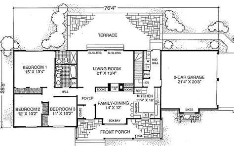 1500 square foot ranch house plans ranch style house plan 3 beds 2 baths 1500 sq ft plan 302 103