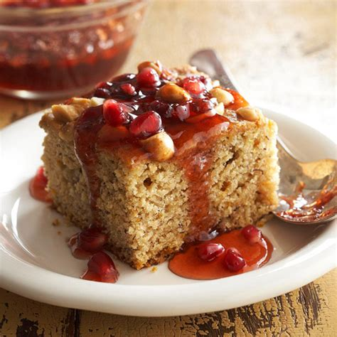 better homes and gardens banana cake recipe banana clementine wacky cake with pomegranate sauce