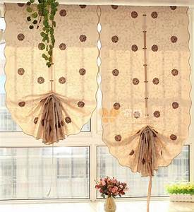 How to make balloon tie up curtains curtains drapes for Pull up curtains how to make
