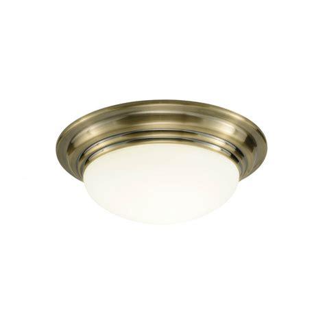traditional antique brass flush bathroom ceiling light