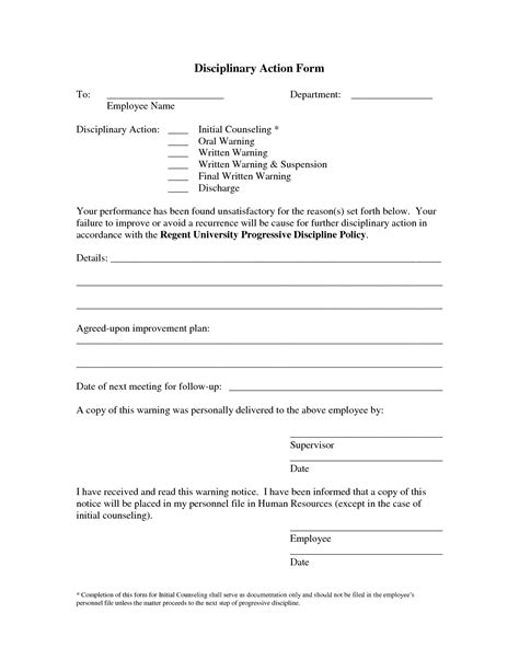 business write up forms employee write up template free google search employee
