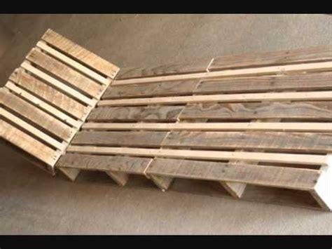 fabriquer chaise en bois fabriquer une chaise longue design en palette