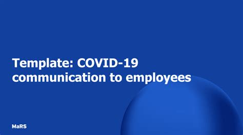 template covid  communication  employees mars