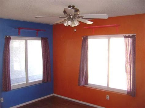 blue and orange bedroom ugly color choices clash blue