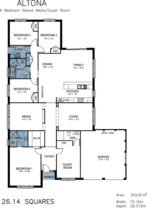 Bedroom Size Dimensions by Altona Allworth Homes An Evolutionary Design In