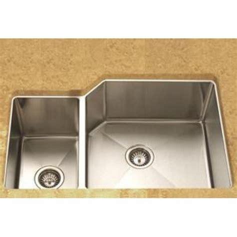 lada ldl undermount   offset double bowl kitchen