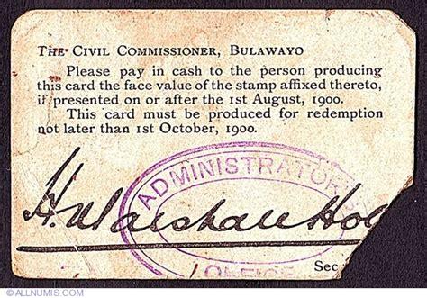6 Pence 1900, Postage Stamp Money - Bulawayo (1900 ...