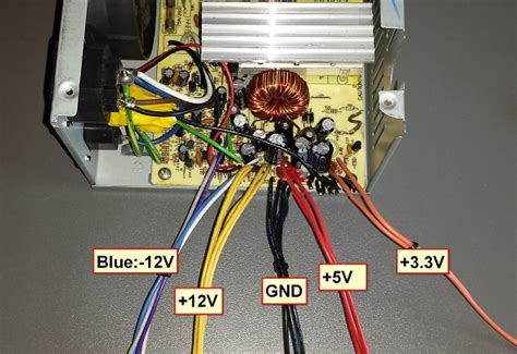 Blue Computer Fan Wire Diagram by Diy Pc Psu To Bench Project Power Supply Steven B