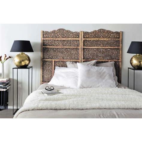 Tete de lit cannage rotin miel demi lune fleur pour lit 160. Tête de lit L 160 cm Alhambra | Maisons du Monde