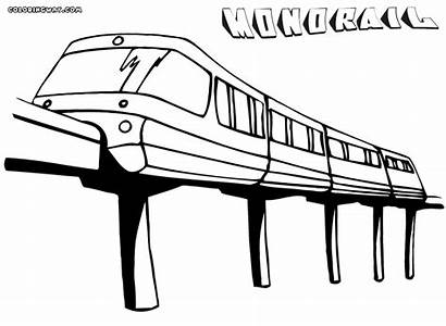 Coloring Monorail Pages Train Template