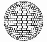 Ball Drawing Disco Coloring Getdrawings sketch template