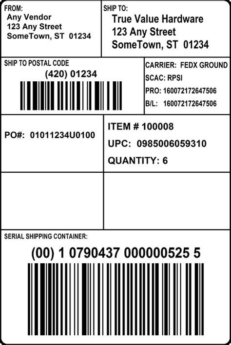 Gs1 128 Label Template | printable label templates