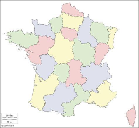 Carte De Avec Region Vierge by Carte Muette Fond De Carte R 233 Gions Couleur Blanc