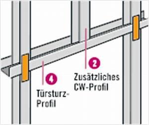Trockenbau Tür Einbauen : trockenbau profile tipps von hornbach ~ Frokenaadalensverden.com Haus und Dekorationen