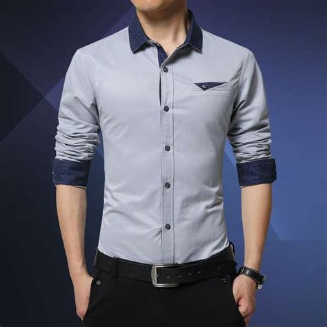 jual baju kemeja pria cowok kantoran kerja formal resmi panjang warna grey fashion pria kemeja