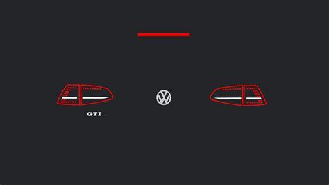Mk7 Gti Euro Taillights Minimalist Wallpapers (1920 X 1080