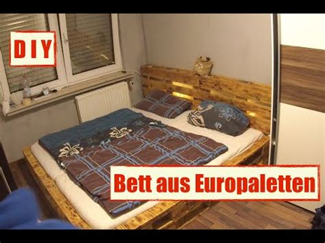 bett mit paletten m 246 bel aus europaletten paletten bett mit led beleuchtung diy furniture