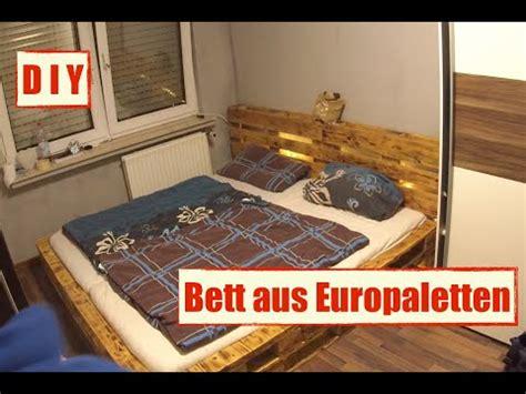 Möbel Aus Europaletten  Paletten Bett Mit Led Beleuchtung