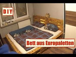Betten Aus Paletten : m bel aus europaletten paletten bett mit led beleuchtung ~ Michelbontemps.com Haus und Dekorationen