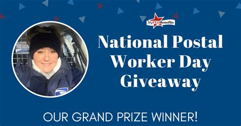 congratulations   national postal worker day giveaway