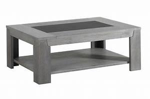Table Basse Bois Gris : table basse en bois ch ne gris et verre ~ Melissatoandfro.com Idées de Décoration