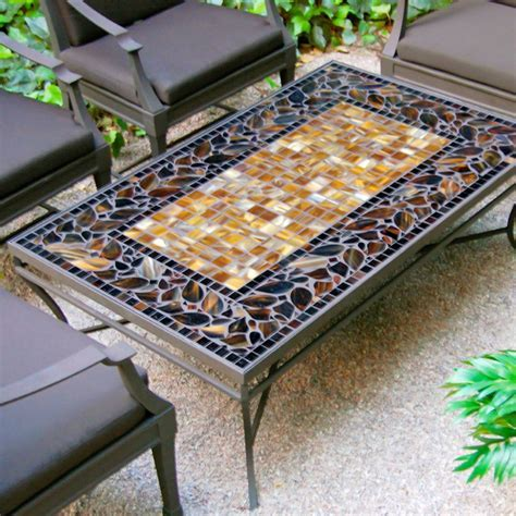 KNF Garden Designs Moaic Rect Coffee Table   48x30
