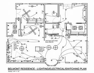How to plan landscape lighting design : Autocad kitchen lighting plans google search