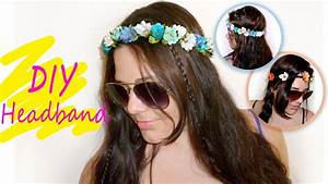 Easy Floral Crown HeadBand Tutorial - YouTube