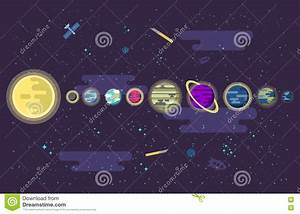 Illustration Of A Set All The Planets The Solar System In ...