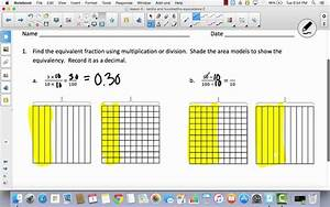 Mod 6 Lesson 5 Equivalence Of Tenths And Hundredths