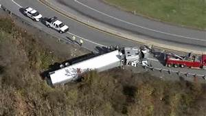Truck overturns of ramp from Pennsylvania Turnpike to ...